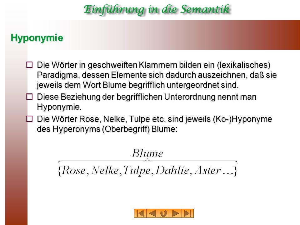Hyponymie
