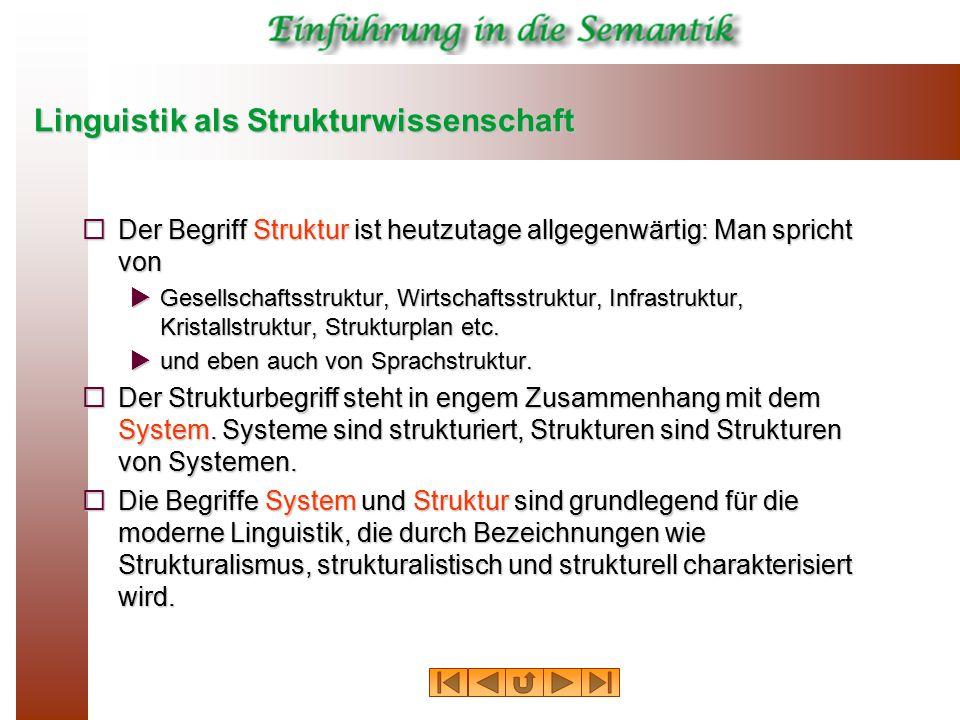 Linguistik als Strukturwissenschaft
