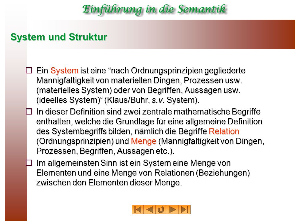 System und Struktur
