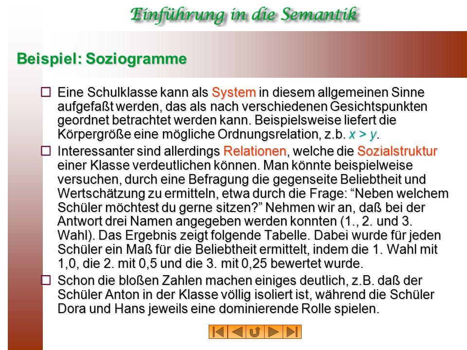 Beispiel: Soziogramme