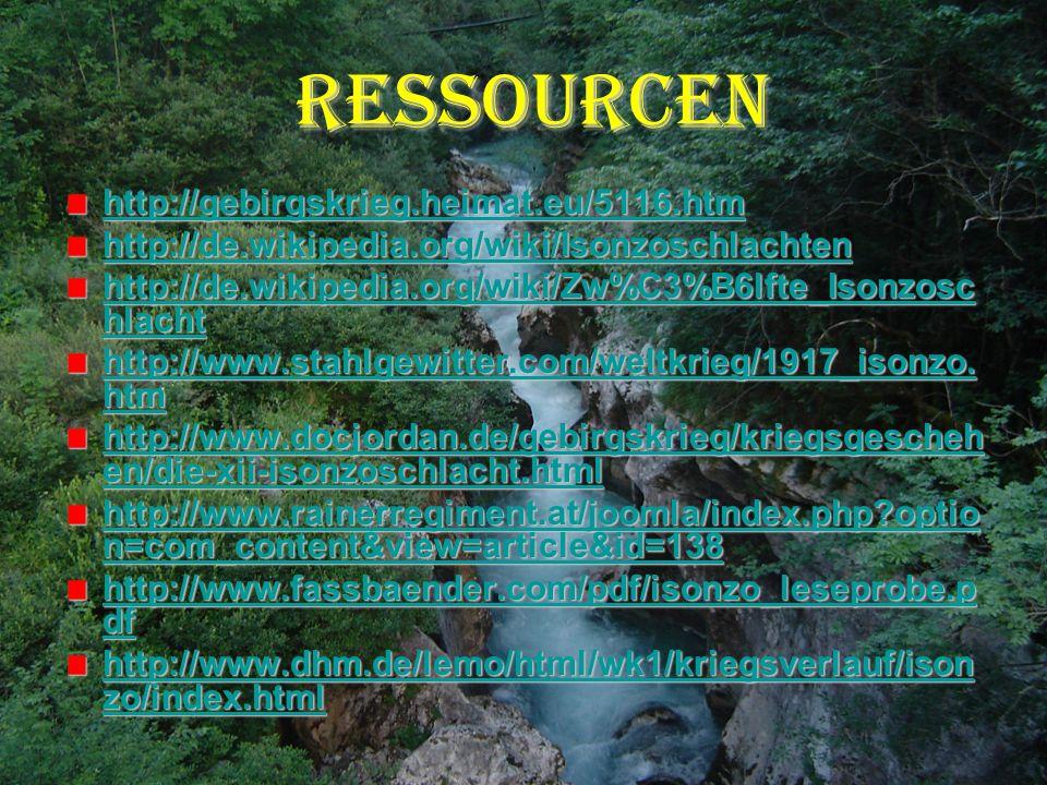 Ressourcen http://gebirgskrieg.heimat.eu/5116.htm