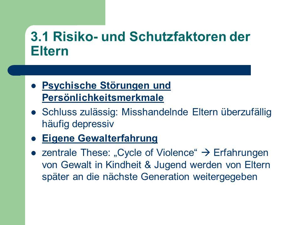 3.1 Risiko- und Schutzfaktoren der Eltern