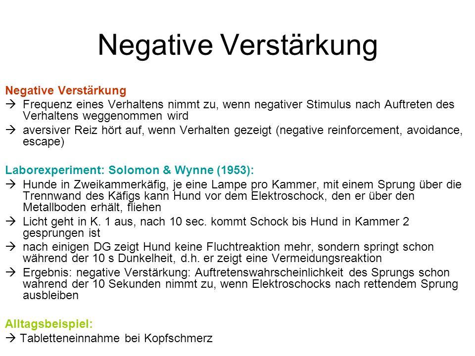 Negative Verstärkung Negative Verstärkung