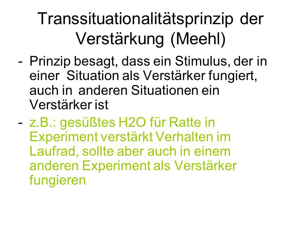 Transsituationalitätsprinzip der Verstärkung (Meehl)