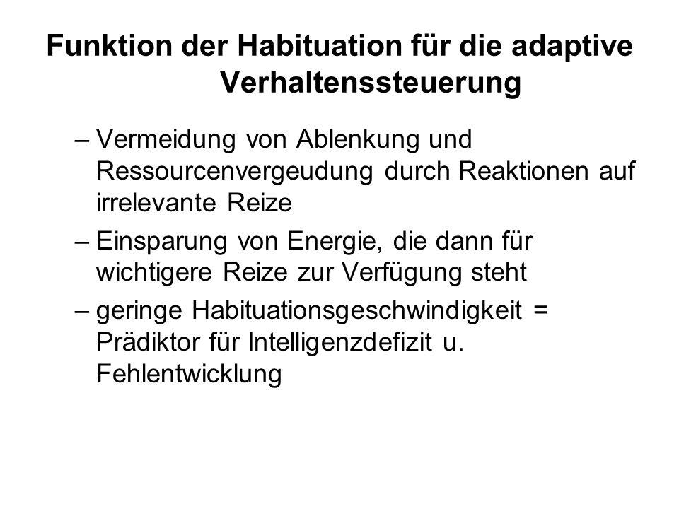 Funktion der Habituation für die adaptive Verhaltenssteuerung
