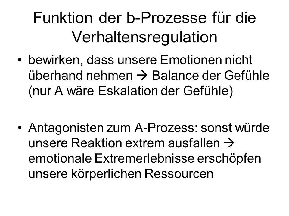 Funktion der b-Prozesse für die Verhaltensregulation