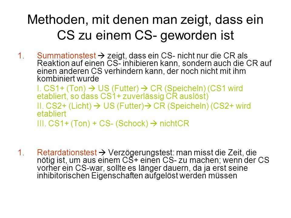 Methoden, mit denen man zeigt, dass ein CS zu einem CS- geworden ist