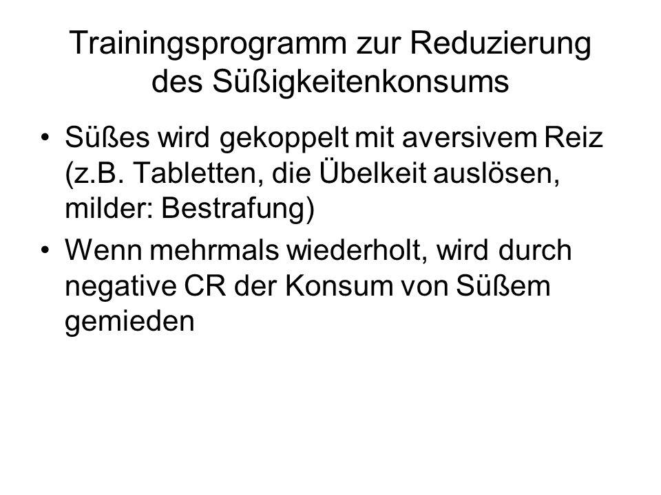 Trainingsprogramm zur Reduzierung des Süßigkeitenkonsums
