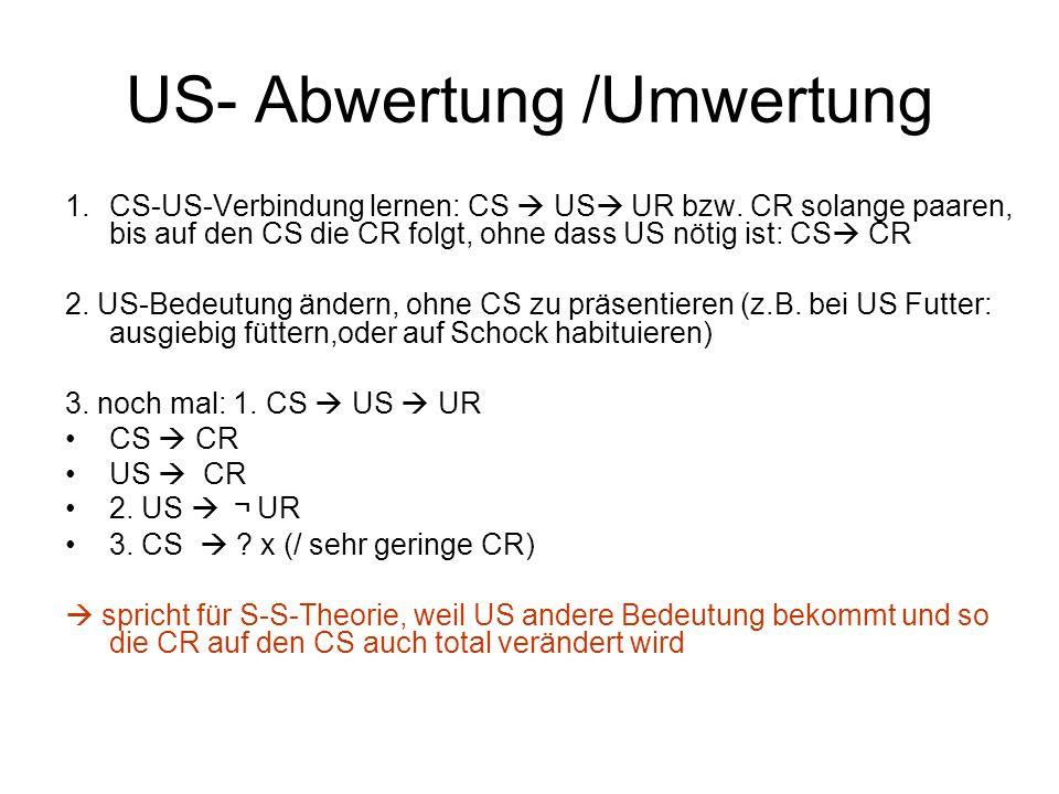 US- Abwertung /Umwertung