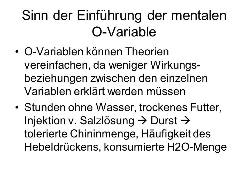 Sinn der Einführung der mentalen O-Variable
