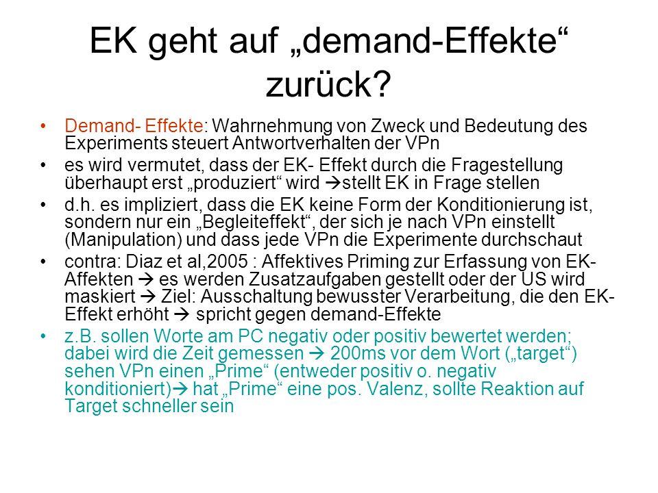 """EK geht auf """"demand-Effekte zurück"""