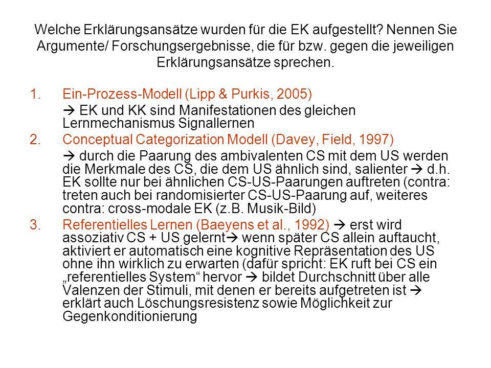 Welche Erklärungsansätze wurden für die EK aufgestellt