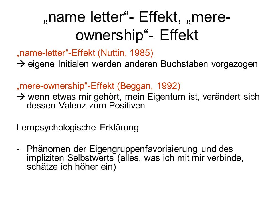 """name letter - Effekt, ""mere-ownership - Effekt"