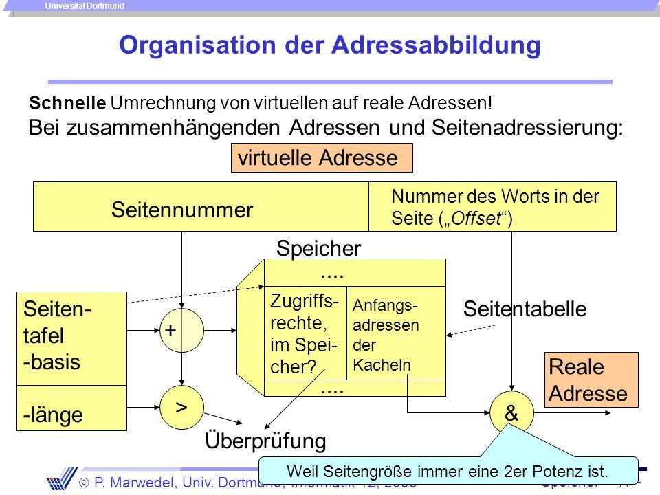 Organisation der Adressabbildung