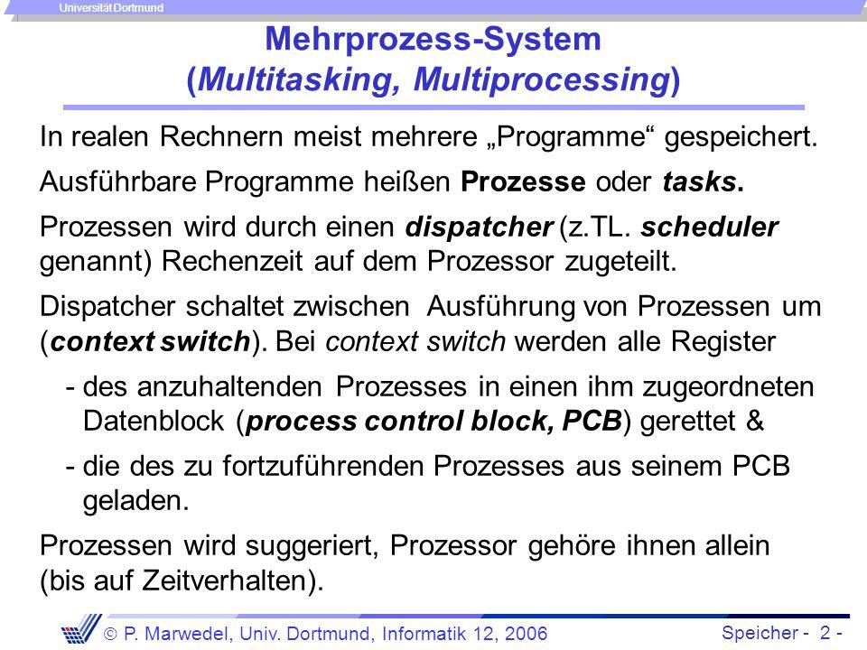 Mehrprozess-System (Multitasking, Multiprocessing)