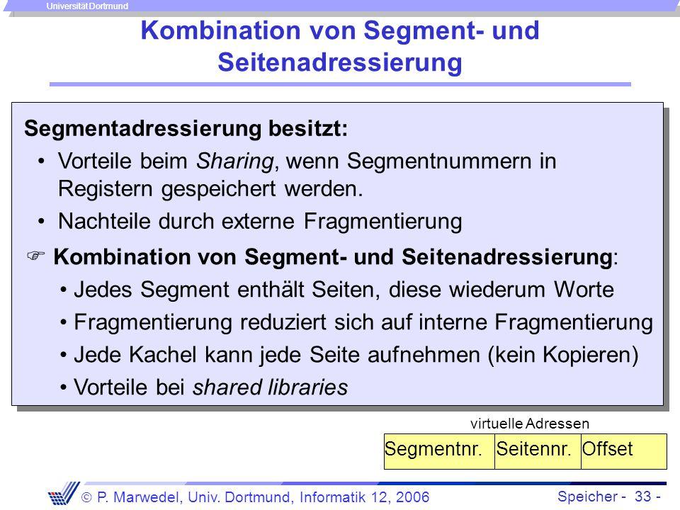 Kombination von Segment- und Seitenadressierung