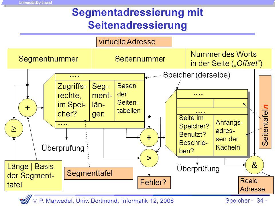 Segmentadressierung mit Seitenadressierung