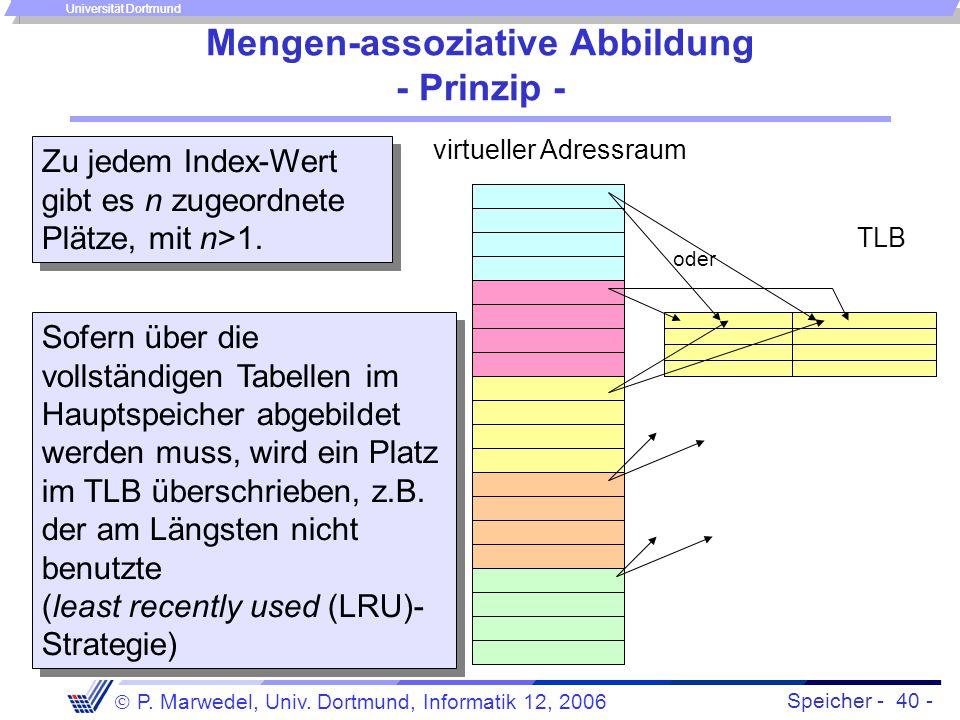 Mengen-assoziative Abbildung - Prinzip -