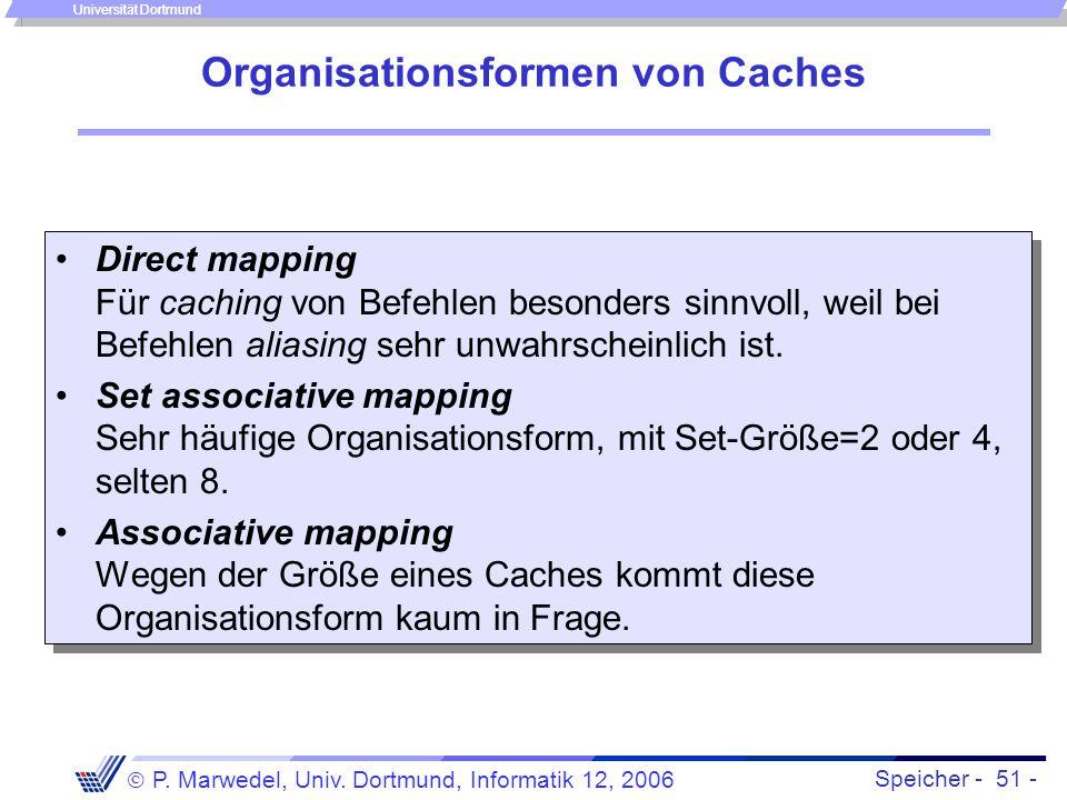 Organisationsformen von Caches