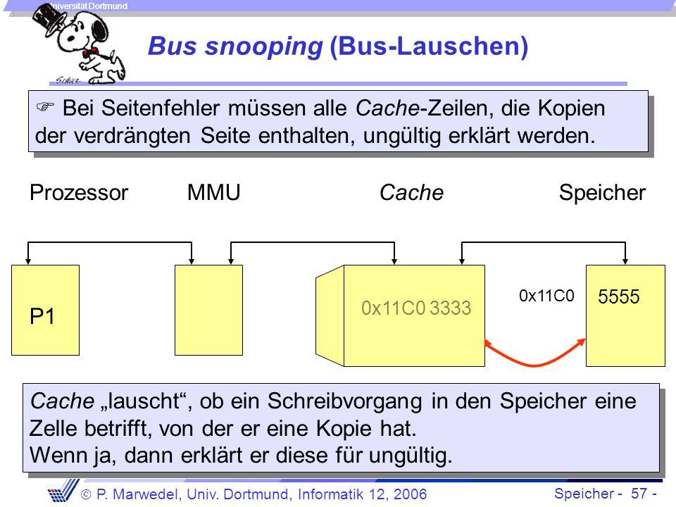 Bus snooping (Bus-Lauschen)