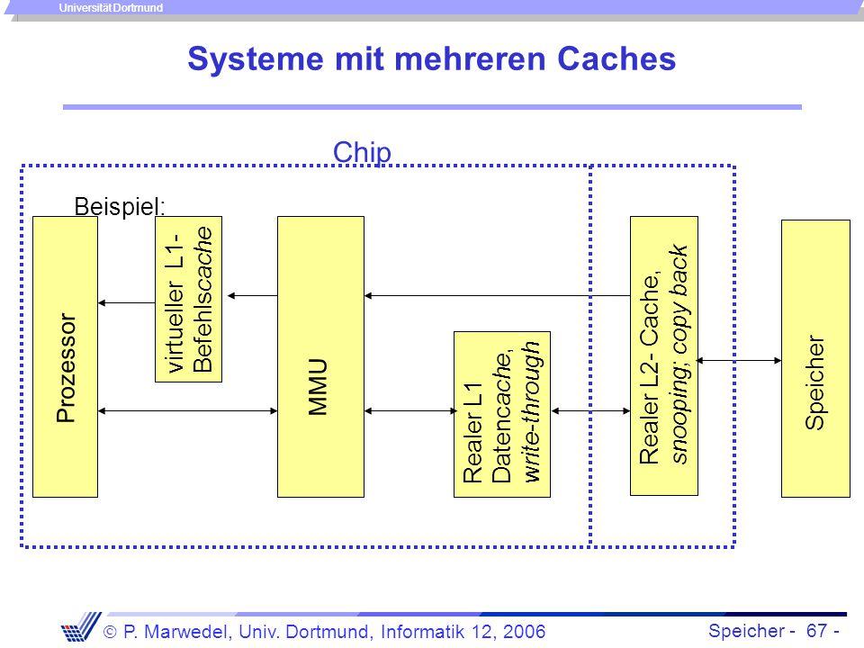 Systeme mit mehreren Caches
