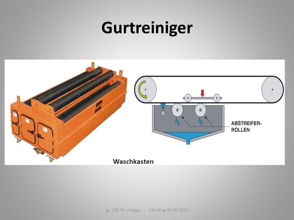 Gurtreiniger Waschkasten go 100 % wanggo - Eferding 30.09.2011