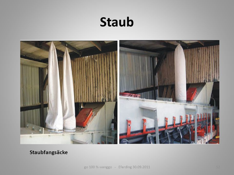 Staub Staubfangsäcke go 100 % wanggo - Eferding 30.09.2011 52