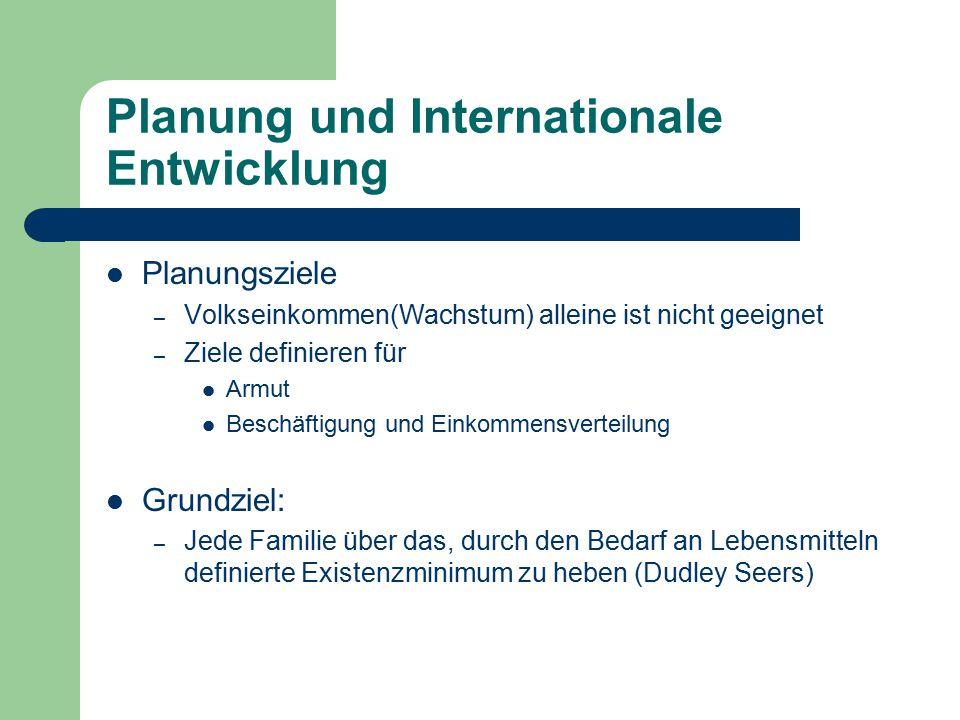 Planung und Internationale Entwicklung