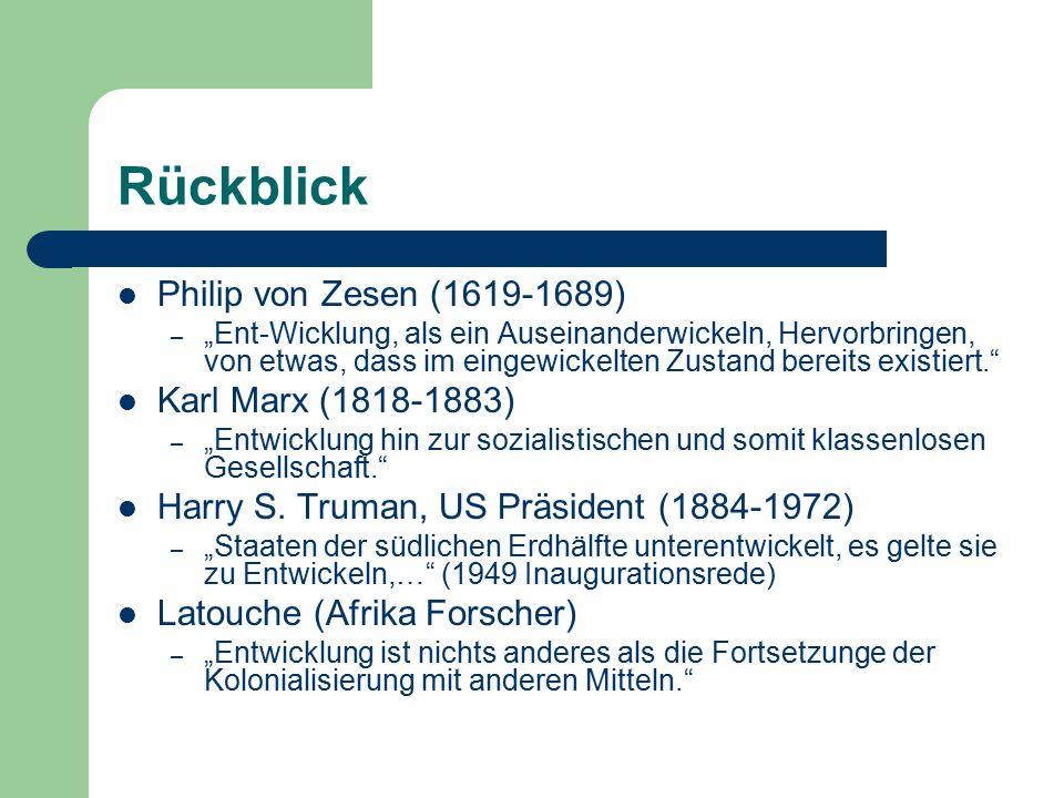 Rückblick Philip von Zesen (1619-1689) Karl Marx (1818-1883)