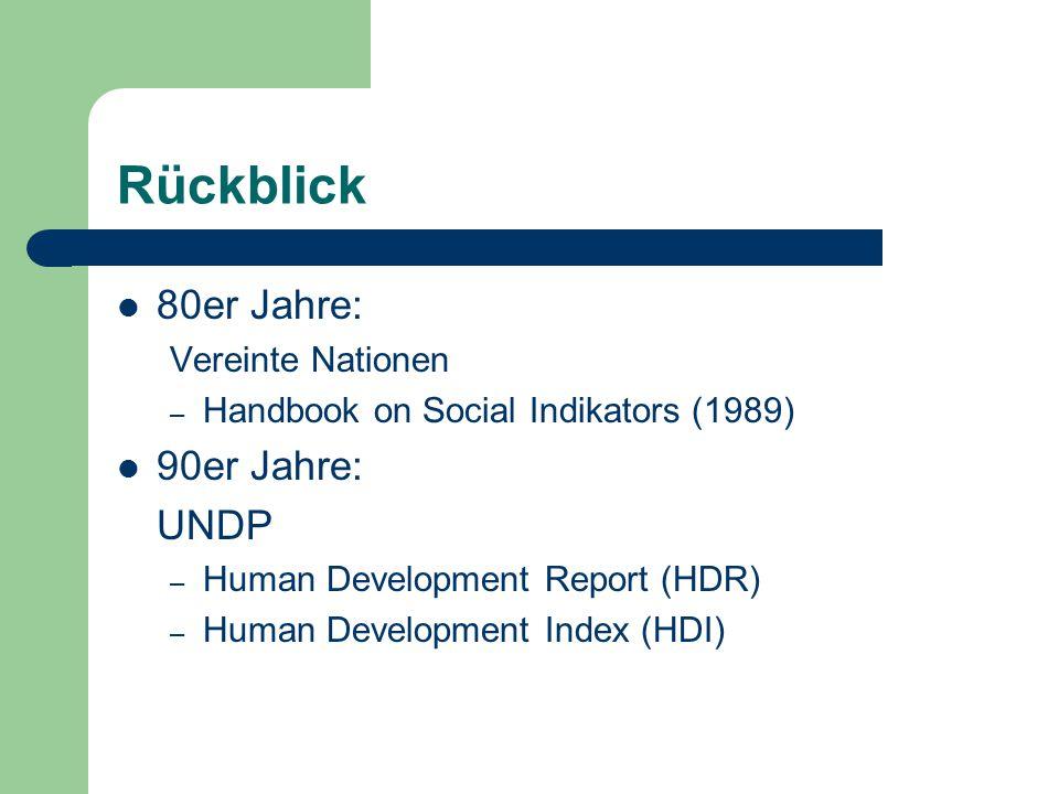 Rückblick 80er Jahre: 90er Jahre: UNDP Vereinte Nationen