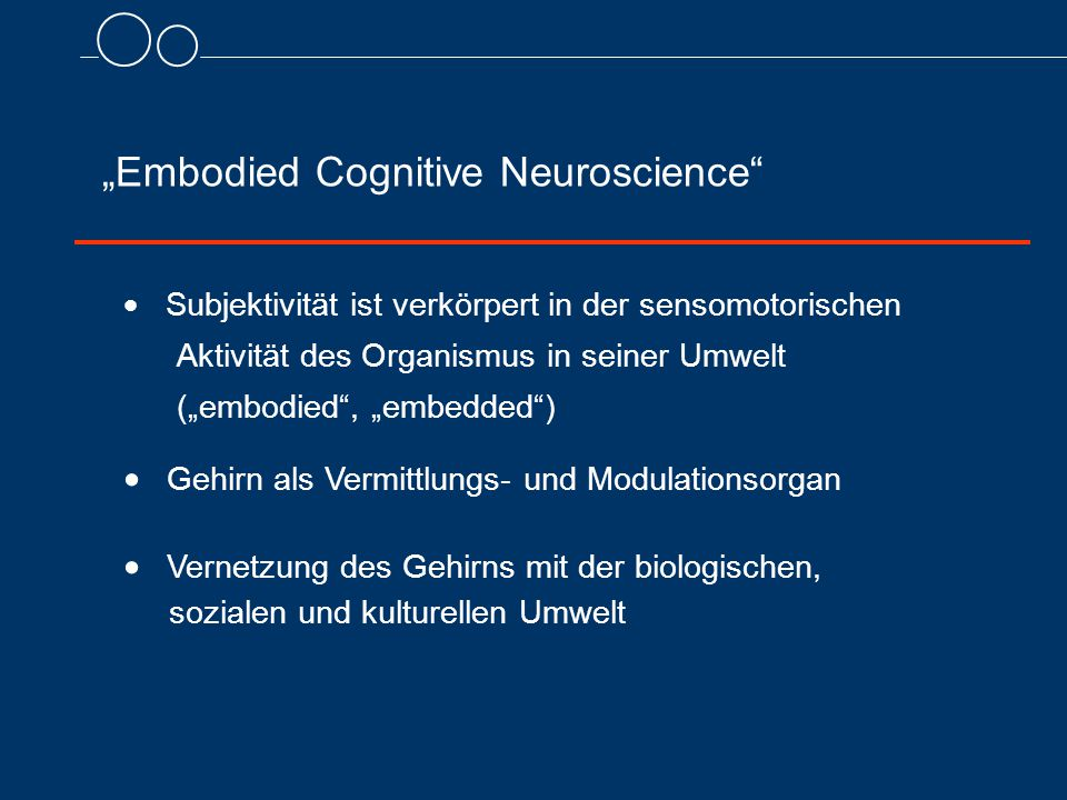 """Embodied Cognitive Neuroscience"