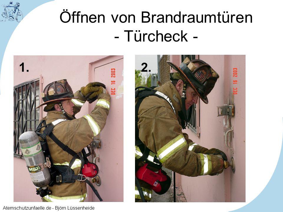 Öffnen von Brandraumtüren - Türcheck -