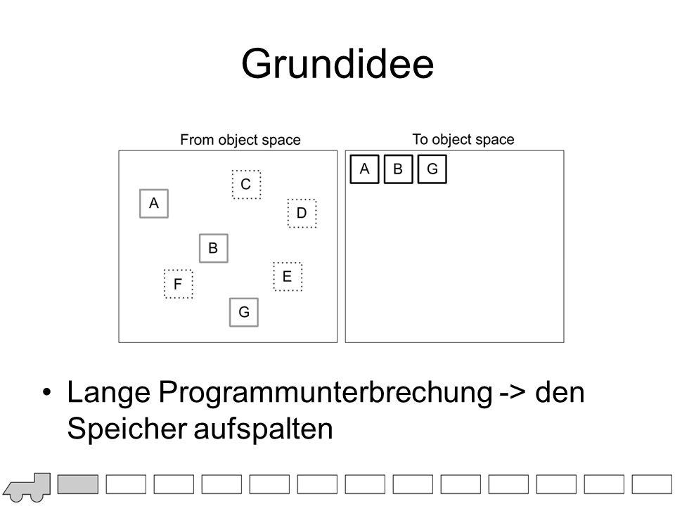 Grundidee Lange Programmunterbrechung -> den Speicher aufspalten