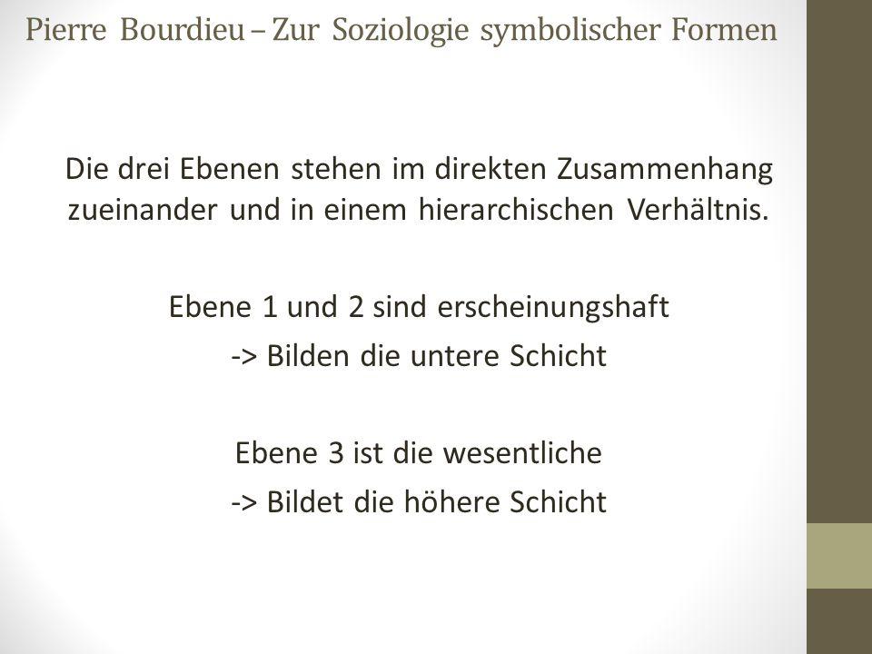 Pierre Bourdieu – Zur Soziologie symbolischer Formen