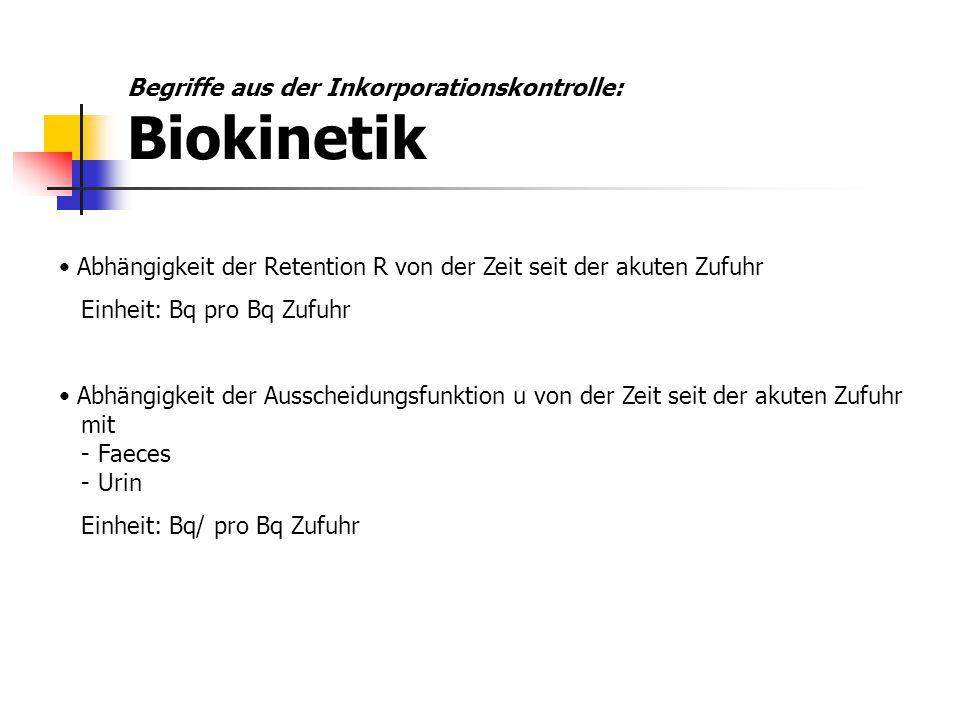 Begriffe aus der Inkorporationskontrolle: Biokinetik