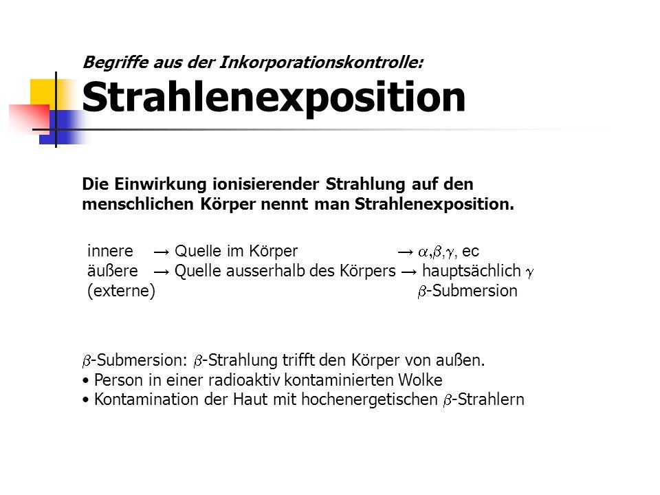 Begriffe aus der Inkorporationskontrolle: Strahlenexposition