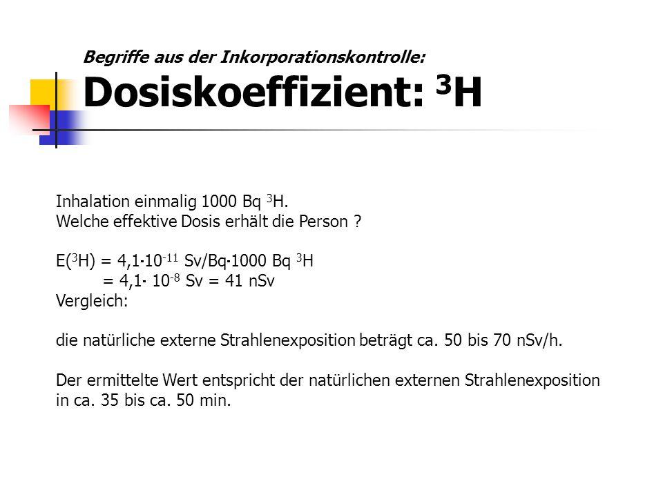 Begriffe aus der Inkorporationskontrolle: Dosiskoeffizient: 3H