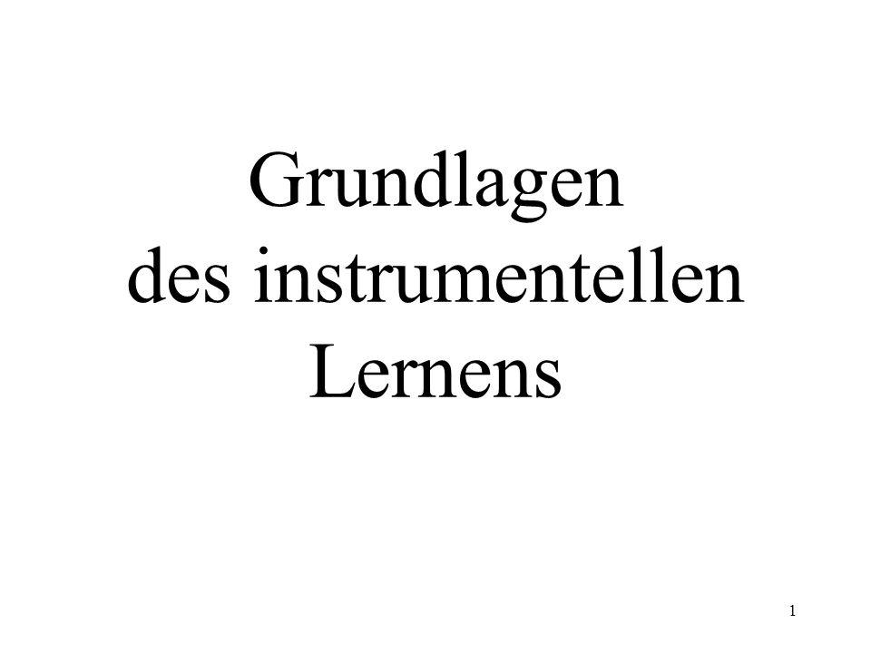 Grundlagen des instrumentellen Lernens