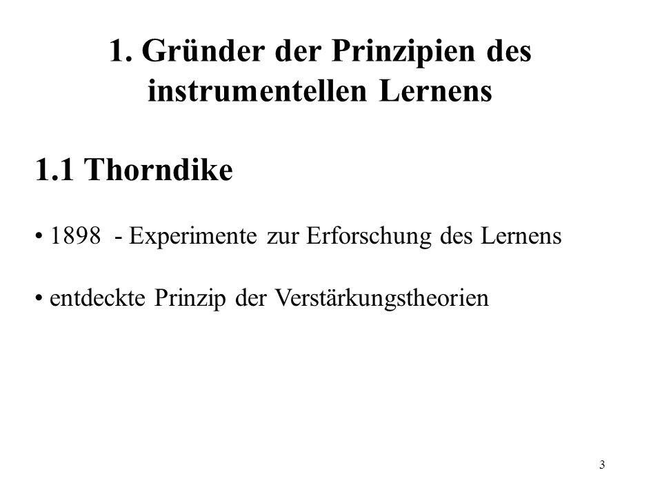 1. Gründer der Prinzipien des instrumentellen Lernens
