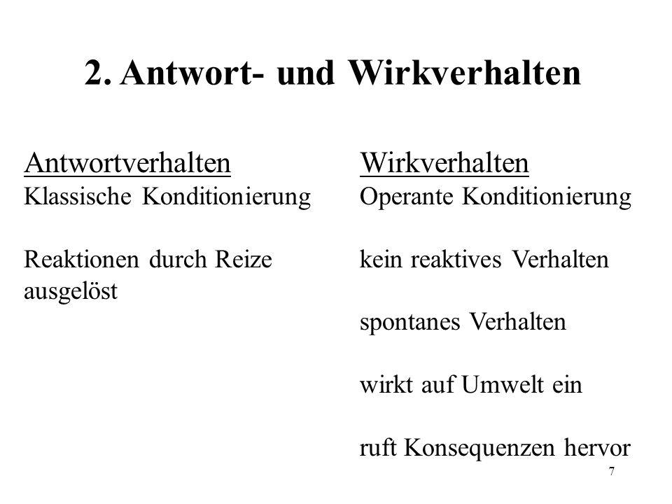 2. Antwort- und Wirkverhalten