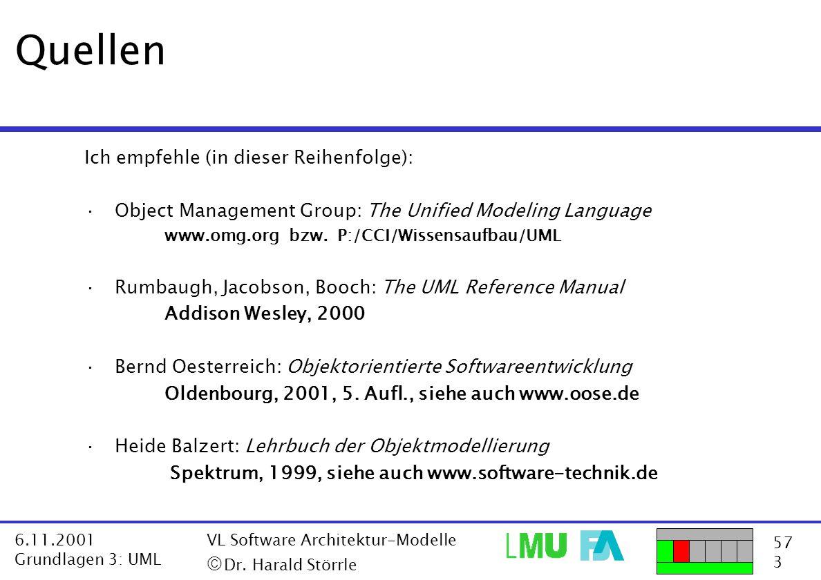 Quellen ã Dr. Harald Störrle Ich empfehle (in dieser Reihenfolge):