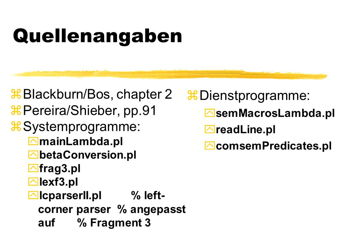 Quellenangaben Blackburn/Bos, chapter 2 Dienstprogramme: