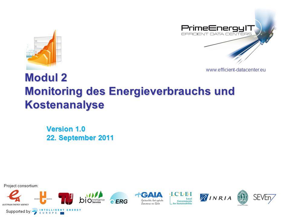 Modul 2 Monitoring des Energieverbrauchs und Kostenanalyse