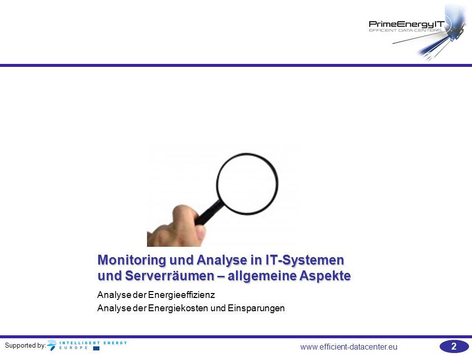 Monitoring und Analyse in IT-Systemen und Serverräumen – allgemeine Aspekte