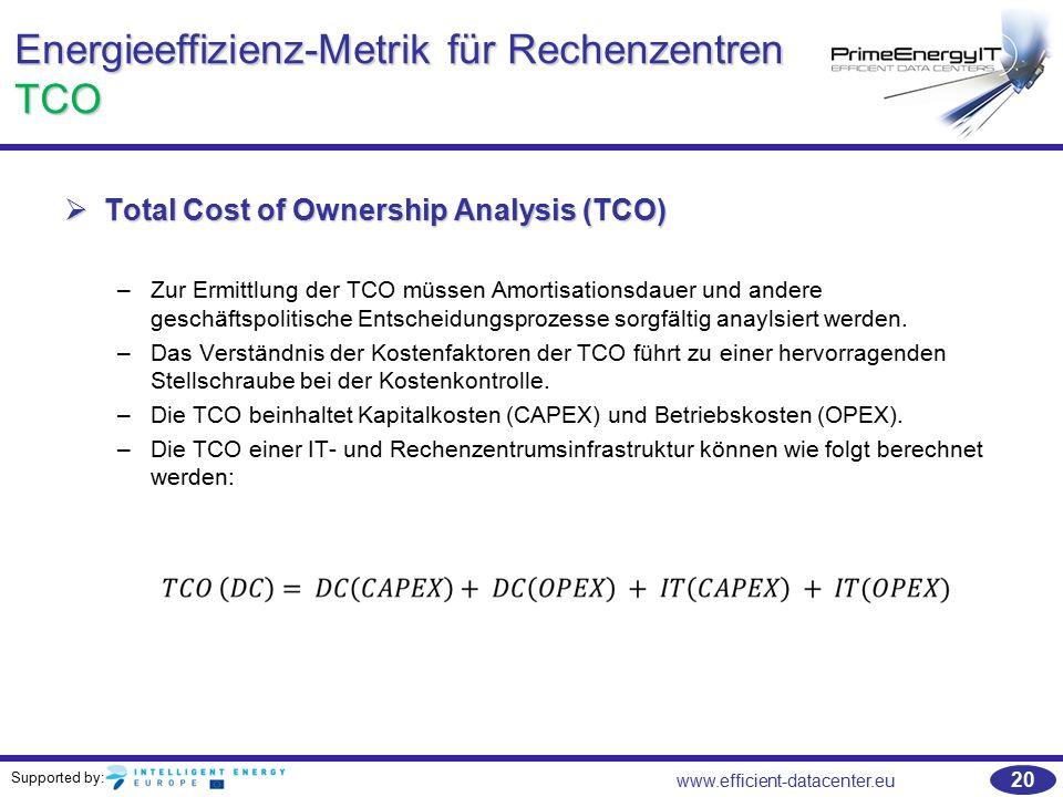 Energieeffizienz-Metrik für Rechenzentren TCO