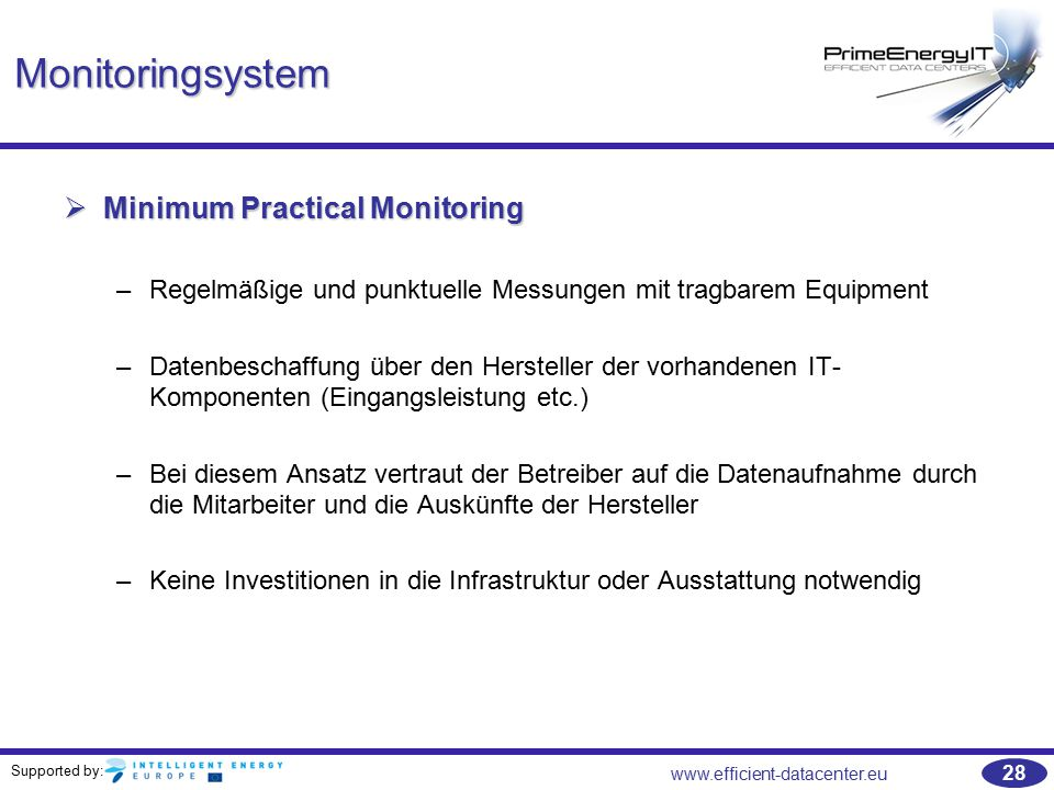 Monitoringsystem Minimum Practical Monitoring
