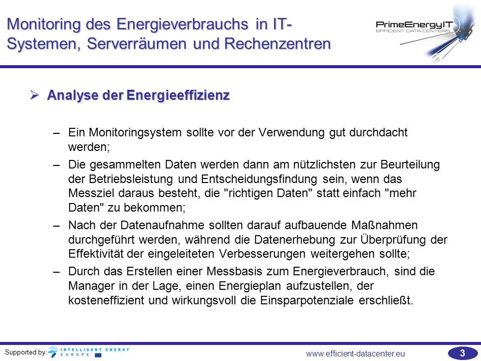 Monitoring des Energieverbrauchs in IT-Systemen, Serverräumen und Rechenzentren