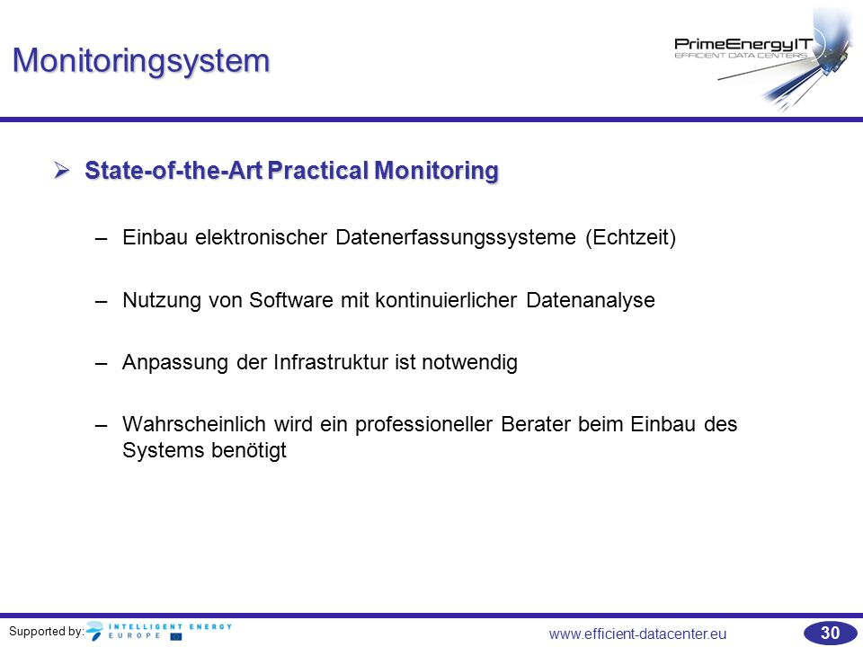 Monitoringsystem State-of-the-Art Practical Monitoring