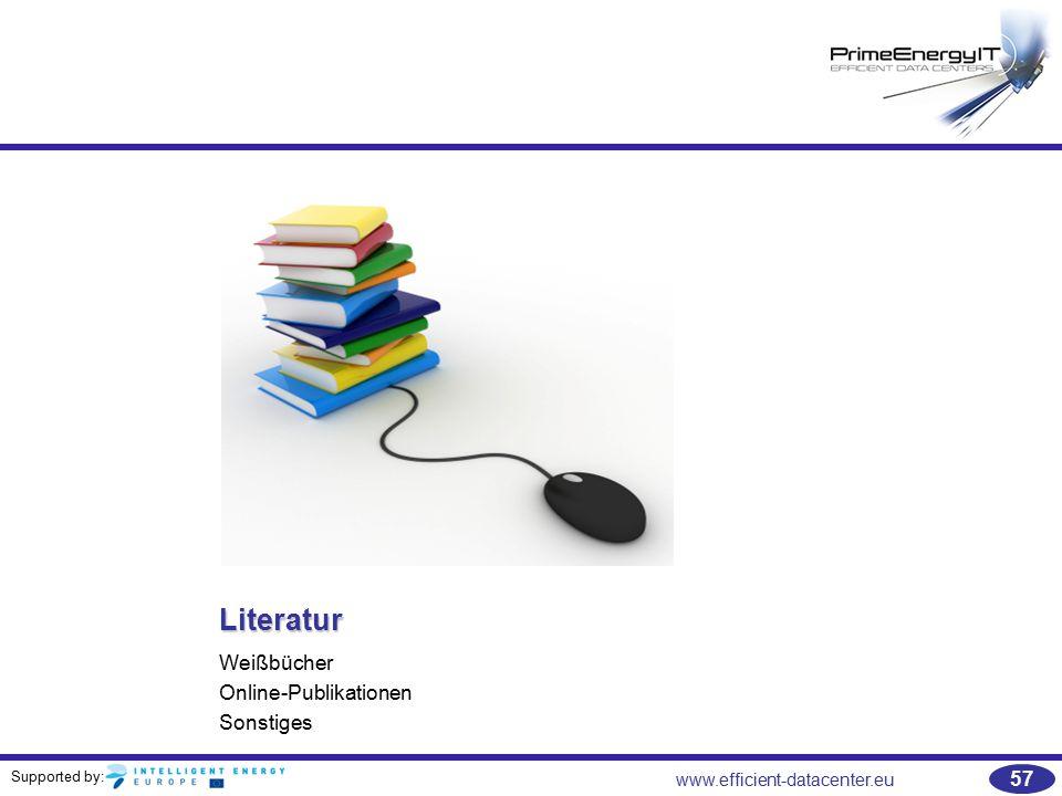 Literatur Weißbücher Online-Publikationen Sonstiges