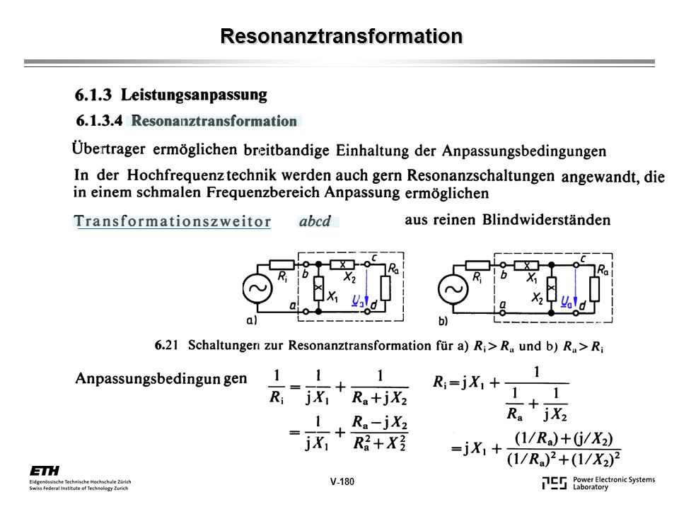 Resonanztransformation